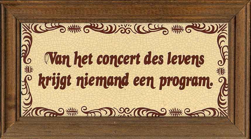 Van Het Concert Des Levens